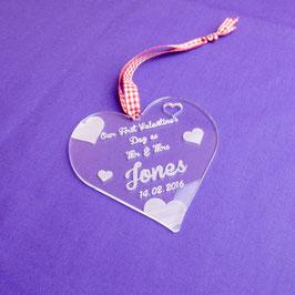 Acrylic Heart Valentine's Gift