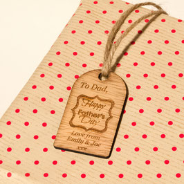 Rustic Father's Day Personalised Gift Tag