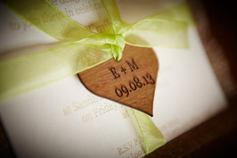 Individually Personalised 60mm Wooden Hearts
