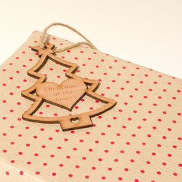 10cm Personalised Christmas Tree Gift Tag - Beech