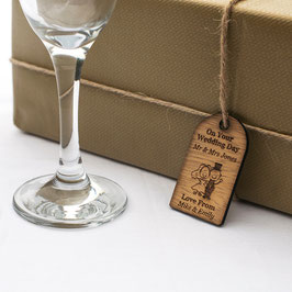 Rustic Wooden Wedding Gift Tags