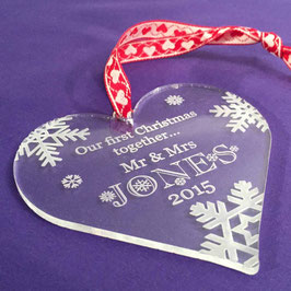Personalised Acrylic Christmas Tree Decoration