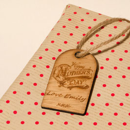 Personalised Rustic Mother's Day Gift Tag