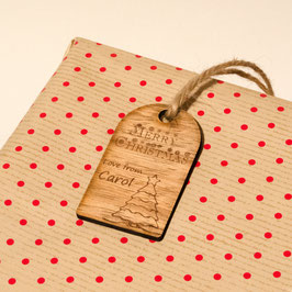 Personalised Rustic Christmas Gift Tag