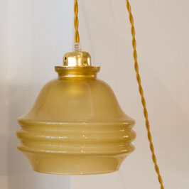 Suspension en opaline jaune
