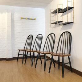 *VENDUES* Ensemble de 4 chaises dans le style de Tapiovaara