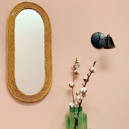 Miroir oval en osier