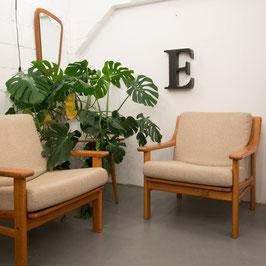 Paire de fauteuils danois Silkeborg Møbelfabrik