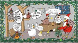 6er-Set Maxi-Karte 'Morgen kommt der Weihnachtshahn', bunt