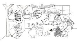 12er-Set Ausmal-Maxi-Karte 'Morgen kommt der Weihnachtshahn'