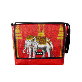 Messengerbag Elefant rot