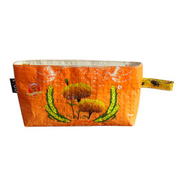 Beautycase Blume orange