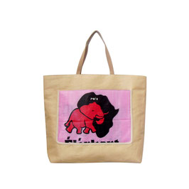 Beachbag Elefant pink