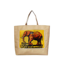 Beachbag Elefant gelb