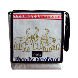 Shoulderbag Elefantenfamilie