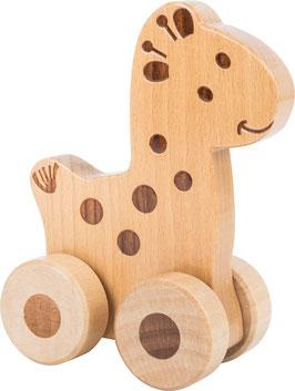 Animal à pousser en bois - girafe