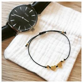 Bracelet MUMOF - cœur doré