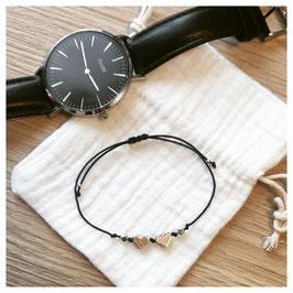 Bracelet MUMOF - cœur argenté
