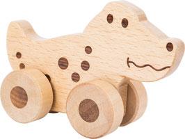 Animal à pousser en bois - crocodile