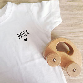 Pour bébé : véhicule et t-shirt 18/24 mois personnalisé