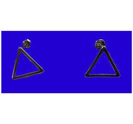 Boucles d'oreilles Triangle vide
