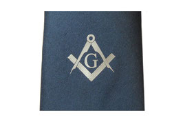 Cravate maçonnique bleue