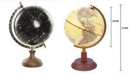 Lot de 2 globes (terrestre et céleste) diamètre 20 cm avec plaque gravée au nom de l'atelier