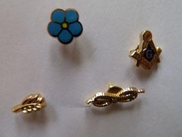 Lot de 4 mini pin's maçonniques