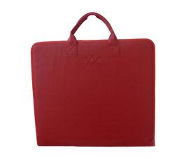 Porte-décors rouge avec logo embossé