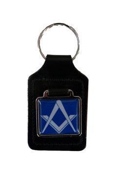 Porte-clés pour Franc-Maçons,bleu et blanc