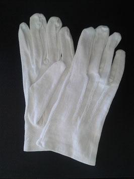 Gants blancs à picots  (M, L ou XL)