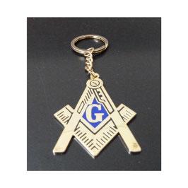 Porte-clé maçonnique métal
