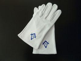 Gants Équerre & Compas Bleu avec G
