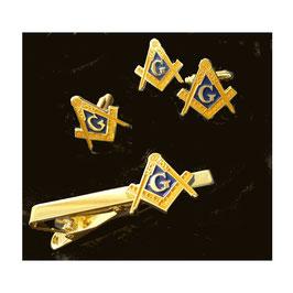 Set bijoux Equerre & Compas avec G
