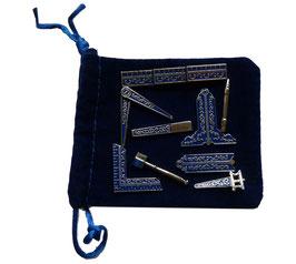 Set de 9 outils maçonniques
