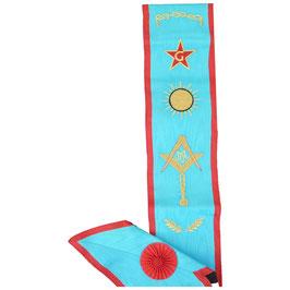 Cordon de Maître brodé 7 symboles