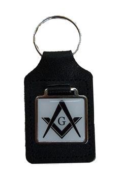 Porte-clés pour Franc-Maçons, noir et blanc