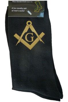 Chaussettes avec symbole maçonnique Or