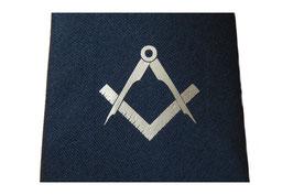 Cravate bleue avec symbole maçonnique