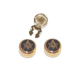 Couvre-boutons  noir et or