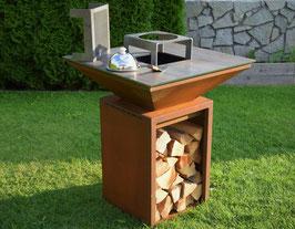 Feuerstelle mit Grillplatte GRILL