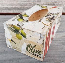 Kosmetiktuchbox Oliven und Chili 2