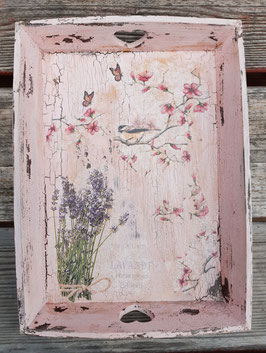 Tablett Lavendel und Vogel (mittel)