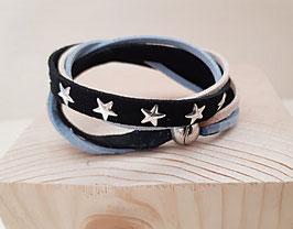 """Kunstwildleder Armband """"hellblau"""""""