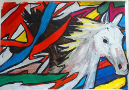 Pferde abstrakt