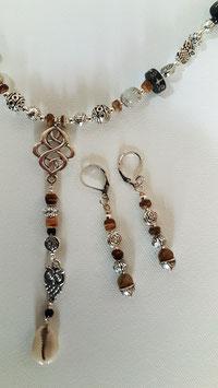 Natur Halskette mit Muschelanhänger