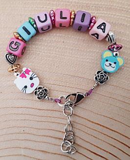 Armband mit Namen Mädchen (Variante 2)