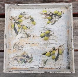Tablett Oliven 5 (quadratisch)