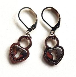 Herz mit Schlüsselloch Ohrringe