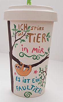 """Bambus Becher """"Faultier 1"""", 600 ml"""
